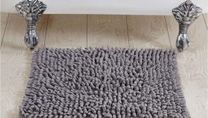 "24 Square Bath Rug Better Trends Loopy Chenille Square Bath Rug 24"" Grey"