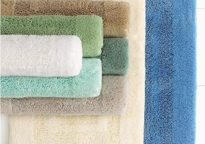 24 X 24 Bath Rug Martha Stewart Collection Plush Squares Cotton 17 X 24