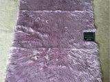 "24 X 60 area Rugs Jean Pierre Faux Fur Rectangular Accent Rug Dusty Lilac 36"" X 60"""