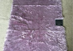"""24 X 60 area Rugs Jean Pierre Faux Fur Rectangular Accent Rug Dusty Lilac 36"""" X 60"""""""