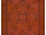 "24 X 60 area Rugs orange Over Dyed Turkish Vintage Rug 5 X 8 5"" 60 In X 101 In"