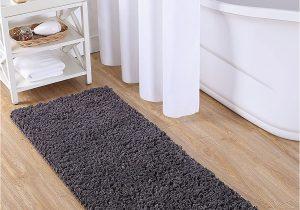 "24 X 60 Bathroom Rug Vcny Home Paper Shag Bathroom Rug 24"" X 60"" Gray"