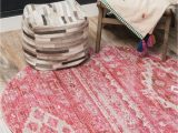 3 Foot Round area Rugs Vega Pink Vintage 3 Ft Round area Rug In 2020