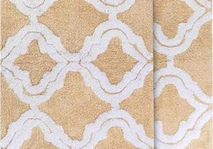 "3 Piece area Rug Sets Sale Chesapeake Merchandising Double Quatrefoil 2pc Straw Bath Rug Set 21""x 34"" & 24""x40"""