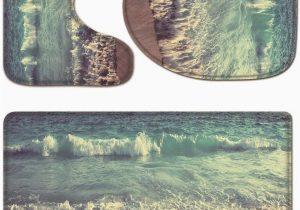 3 Piece Memory Foam Bath Rug Set Amazon Com Ykyx 3 Piece Bathroom Rug Set Ocean Waves Non