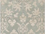 """3 X 5 Green area Rugs E Of A Kind Purnell Hand Knotted 5 5"""" X 8 3"""" Light Green area Rug"""