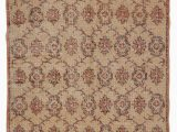 """3 X 7 area Rugs Turkish Vintage area Rug 4 3"""" X 7 5"""" 51 In X 89 In"""