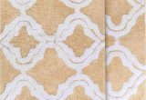 "30 X 45 Bath Rug Chesapeake Merchandising Double Quatrefoil 2pc Straw Bath Rug Set 21""x 34"" & 24""x40"""