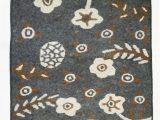 "30 X 72 Bath Rug Handmade Wool Felt Rug Afghanistan 48"" X 72"""