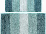 36 Square Bath Rug Wovwvool Bathroom Rugs Plush Mat Polyester Microfiber Non Slipsoftabsorbent and Machine 20a—32 and 18a—26 Aqua Greeni¼‰