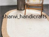 36 X 48 area Rug Details About Braided Natural Hand Woven Jute Rug Oval Home