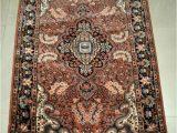 "36 X 60 area Rug Rare Collectible Kashmir Cashmere 36""x60"" Antique Wool"