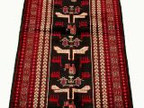 """36 X 72 area Rugs E Of A Kind Hand Knotted 1980s Rizbaft Black Red 3 6"""" X 7 2"""" Runner Wool area Rug"""
