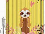 36 X 72 Bath Rug Amazon Com Daringone Sloth Shower Curtain Sets 36x 72