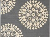 3×5 area Rugs with Rubber Backing Qute Home European Medallion Non Slip Rubber Backed area Rugs & Runner Rug Grey Ivory 3 Ft X 5 Ft area Rug