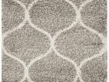 3×5 Non Skid area Rugs Sweet Homes Carpet Ultra soft Shag Collection Handwoven Anti Skid Ogee Plush area Rug Size 3×5 Feet Color Grey Ivory