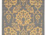 3×5 Non Slip area Rugs Rubber Backed Non Skid Non Slip Gold & Gray Color Floral Design area Rug