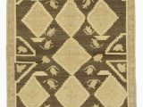 "4 by 5 area Rugs Beige Brown All Wool Hand Knotted Vintage area Rug 4 1"" X 7 5"" 49 In X 89 In"