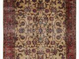 "4 by 5 area Rugs Turkish Vintage area Rug 4 5"" X 8 6"" 53 In X 102 In"