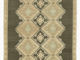 """4 by 7 area Rug Beige Brown All Wool Hand Knotted Vintage area Rug 4 4"""" X 7 4"""" 52 In X 88 In"""