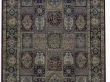 """4 by 7 area Rug E Of A Kind Gramercy Hand Knotted 4 7"""" X 6 7"""" Wool Cotton Black area Rug"""
