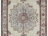 "4 X 10 area Rug Beige Turkish Vintage area Rug 6 4"" X 10 76 In X 120 In"