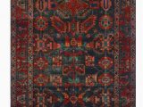 "4 X 10 area Rug E Of A Kind Sherilyn Hand Knotted Red Navy 4 2"" X 10 4"" Runner Wool area Rug"