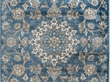 4 X 10 area Rug Madison Collection 405 Vintage Distressed oriental Persian Blue area Rug Clearance soft and Durable Pile Size Option 7 4 X 10 6