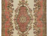 "4 X 10 area Rug Turkish Vintage area Rug 6 4"" X 10 4"" 76 In X 124 In"