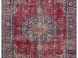 "4 X 10 area Rug Turkish Vintage area Rug 7 4"" X 10 3"" 88 In X 123 In"