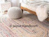 4 X 5 Bathroom Rugs Chindi Braided Meditation Mat In Oval Shape Chindi Bathroom Rugs 3 X 5 Feet