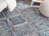 4 X 5 Bathroom Rugs Denim Braided area Rug Hand Woven Living Room Floor Rug 3 X 5 Feet Hand Braided Accent area Carpet Denim Jute Braided Bathroom Rug Runner