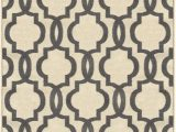 "4 X 5 Bathroom Rugs Kapaqua Rubber Backed 3 4"" X 5 Fancy Moroccan Trellis Ivory & Grey area Non Slip Rug Rana Collection Kitchen Dining Living Hallway Bathroom Pet"