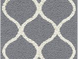 "4 X 5 Bathroom Rugs Maples Rugs Rebecca Contemporary Runner Rug Non Slip Hallway Entry Carpet [made In Usa] 1 9"" X 5 Grey White"