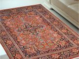 4 X 6 Ft area Rugs Rust Kashan 4 X 6 Feet Silk Carpets India area Rug