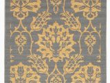 4 X 6 Rubber Backed area Rugs Rubber Backed Non Skid Non Slip Gold & Gray Color Floral Design area Rug