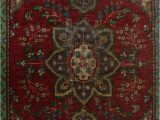 "48 X 48 area Rug E Of A Kind Hyacinthe Hand Knotted 3 2"" X 4 8"" Wool Red area Rug"