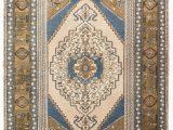 4×6 area Rugs Blue 4×6 Blue Vintage Turkish area Rug
