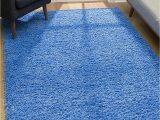 4×6 area Rugs Blue Malibu Collection Modern Shaggy area Rug 4 X 6 Blue