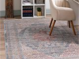 4×6 area Rugs Blue Noble Blue Vintage 4×6 area Rug In 2020