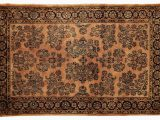 4×6 Non Skid area Rug E Of A Kind Fine Indo Hand Knotted Rust Black 4 X 6 Wool area Rug