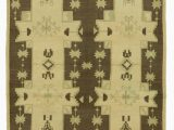 """5 7 area Rugs Under 50 Beige Brown All Wool Hand Knotted Vintage area Rug 4 2"""" X 7 5"""" 50 In X 89 In"""