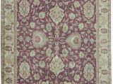 """5 by 9 area Rugs E Of A Kind Avalon Hand Knotted Red 5 1"""" X 6 9"""" area Rug"""