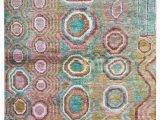 "5 by 9 area Rugs E Of A Kind Ecco Hand Knotted 1920s Pink Blue 5 9"" X 8 9"" Hemp area Rug"