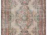 "5 by 9 area Rugs Turkish Vintage area Rug 5 9"" X 9 5"" 69 In X 113 In"