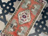 "5 Ft Bath Rug 1 6""x3 5""ft Home Living Room Rug Small Vintage Rug"