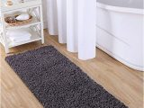 "5 Ft Bath Rug Vcny Home Paper Shag Bathroom Rug 24"" X 60"" Gray"