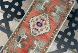 "5 Ft Bath Runner Rug 1 6""x3 5""ft Home Living Room Rug Small Vintage Rug"
