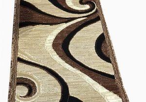 5 Ft Bath Runner Rug Americana Modern Runner area Rug Beige Brown Carpet King Design 144 2 Feet X7 Feet 3 Inch