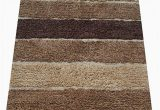 "5 Ft Bath Runner Rug Chardin Home Cordural Stripe Bath Rug Runner with Skid Resistant Latex Spray Underneath Brown Beige 24"" W X 60 L"